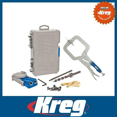 "Kreg R3 Junior Portable Pocket Hole Joinery Jig + 2"" 50mm Classic Face Clamp Kit"