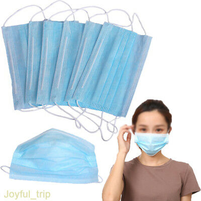 25 50 100 x Disposable 3 Ply Surgical Dental Nail Salon Dust Medical Face Mask