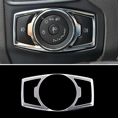 Chrome Fog Head Light Switch Button Cover Trim For Ford Escape Kuga 2013-2017 TW