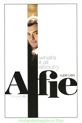 ALFIE MOVIE POSTER Original DS 27x40 JUDE LAW 2004 Film Advance Style