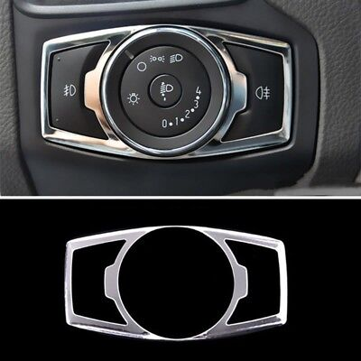 Chrome Fog Head Light Switch Button Cover Trim For Ford Escape Kuga 2013-2017 MA