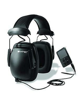 Honeywell Ear Defender Headphones Black Stereo Sync Earmuff 3.5 Jack Audio