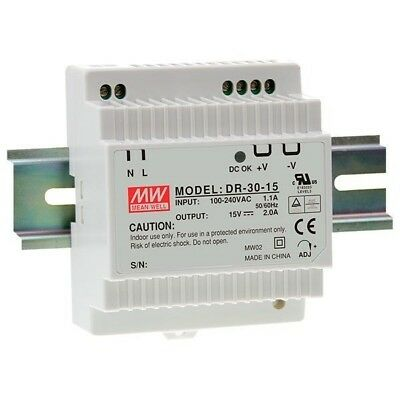 Mean Well DR-30-12 12V / 24W Step Shape Din Rail PSU