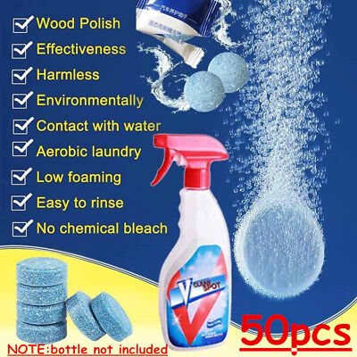 50PCS Multifunctional Effervescent Spray Cleaner V Clean Spots FROM US IN STOCK