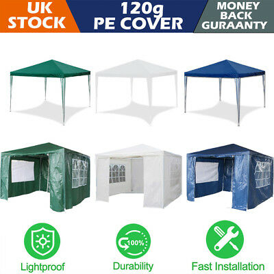 New 3Mx3M Party Tent Outdoor PE Garden Gazebo Marquee Canopy Awning Wedding