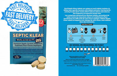 Envii Septic Klear - Tank Boost Treatment, Bacteria & Enzyme Tablets Remove...