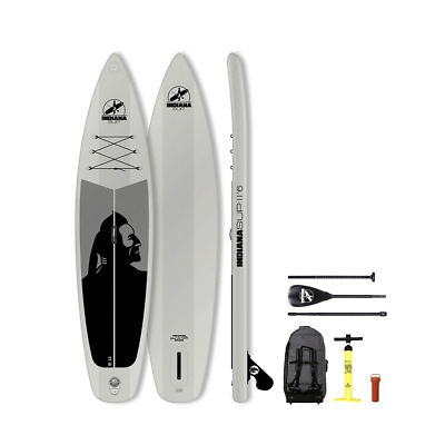 Indiana SUP (Stand Up Paddle) Inflatable 11'6 Family Pack 2018 grau