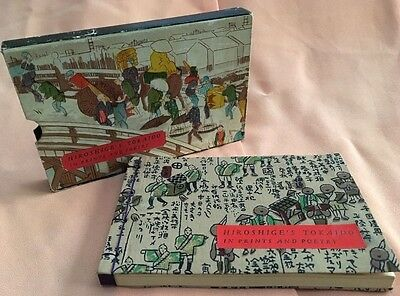 Hiroshige's Tokaido in Prints and Poetry 1960 Fine Binding Book in Slip Case
