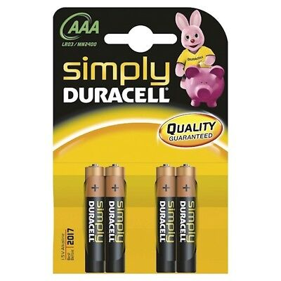 Duracell Simply AAA MN2400 Four Per Card Advance Performance Alkaline Battery