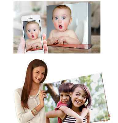 """YOUR/MY PHOTO/ PICTURE / PIC on to a PERSONALISED BOX CANVAS PRINT Square 16x16"""""""