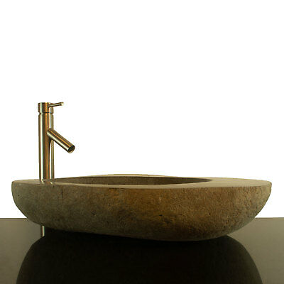 Big River Stone Vessel Sink with Soap Dish Bathroom Counter Top RSTDD-08