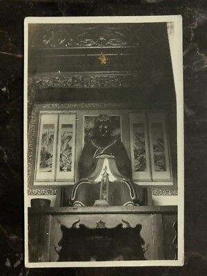 Mint China Real Picture Postcard RPPC Chinese Statue