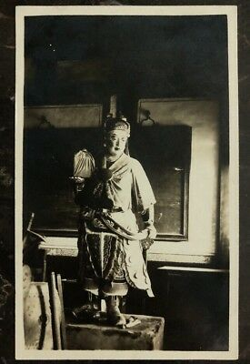 Mint China Real Picture Postcard RPPC Rare Statue