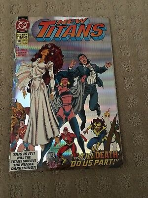 The New Titans #100 (Aug 1993, DC) Foil/Hologram cover