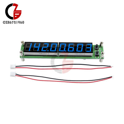 RF Signal Frequency Counter 0.1-60MHz 20MHz ~ 2.4GHz Blue 8 LED Cymometer Tester