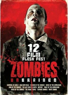 Zombies Unbrained: 12 Film Flesh Fest [3 Discs] (REGION 1 DVD New)