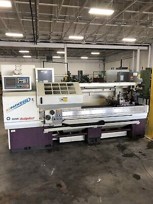 "20"" X 60"" Romi-Bridgeport Ez-Path-Ii Sd Flat Bed Cnc Engine Lathe"