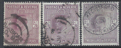 Great Britain GB 1902-1911 2sh6d King Edward VII Shades Selection U £540+/$691+