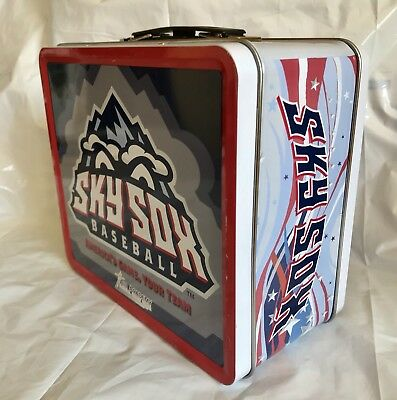Colorado Springs Sky Sox Metal Promotional Lunchbox Lunch Box Baseball