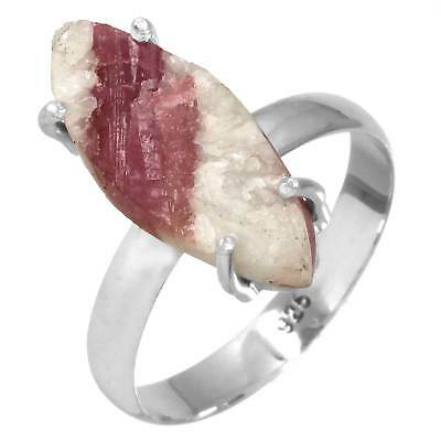 Pink Tourmaline In Quartz Jewelry Solid 925 Sterling Silver Ring T 1/2 wa38507