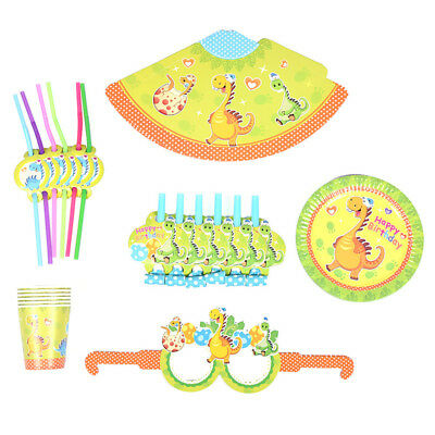 Happy Birthday Party Tableware Cartoon Dinosaur Wedding Anniversary Accessories