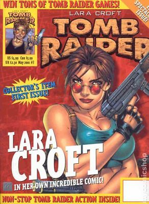 Tomb Raider The Official Magazine (Titan) 1A 2001 VF 8.0 Stock Image