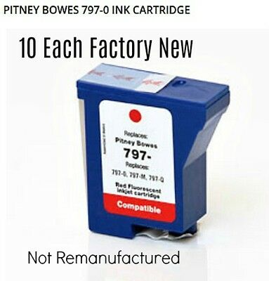 10 Pitney Bowes 797-M, 797-Q, 797-0 Compatible Cartridge K700 / K7MO MailStation
