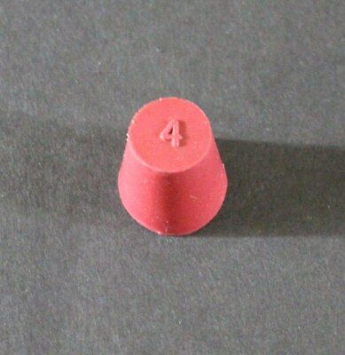 Rubber Stopper, Size #4, Red, Pack of 10