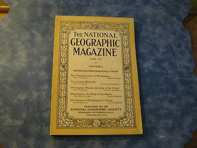 ANTIQUE NATIONAL GEOGRAPHIC June 1923 WASHINGTON CAPITOL Lincoln Memorial