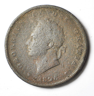 1826 1P Great Britain Penny Copper Coin Large Cent KM#693 Rare