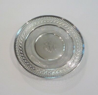 "Watson Sterling Silver Reticulated 8"" Sandwich/Dessert Plate / Tray, #4558"
