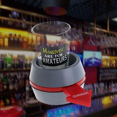 Handy Fun Spinner Spin The Shot Roulette Glass Alcohol Drinking Game Gift New BY