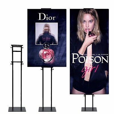 Sign Holder Pedestal Poster Stand for Display Height Adjustable up to 75in 10 pc
