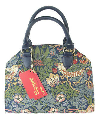 Tapestry Strawberry Thief Bird design Handbag Signare