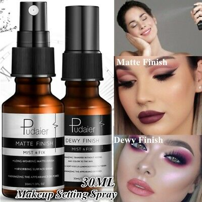1Pc 30ML Matte Dewy Finish Bottle Setting Spray Natural Long Lasting Makeup Fix