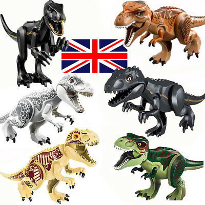 Indominus Rex Jurassic World Park Large Dinosaur Figure Building Blocks Toy Gift