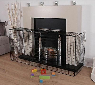 New! Extending Black Metal Fire Guard Fire Place Stove Wood Burner Safety Child