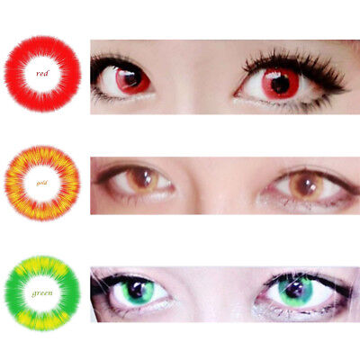 1Pair Halloween Unisex Fashion Unlimited Fire Cosplay Coloured Contact Lens Vent