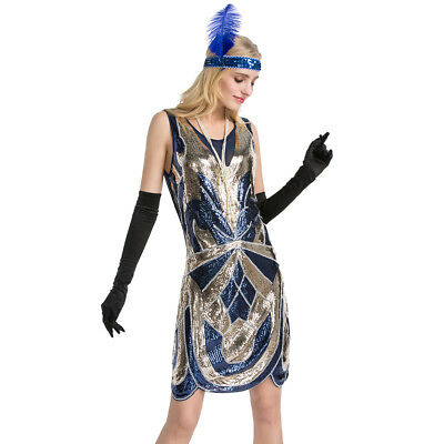 Women's 1920s Flapper See Through Back Inspired Fringed Great Gatsby Theme Dress