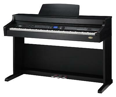 88-Tasten Digital Piano E-Piano Keyboard Klavier Usb Record Midi Schwarz Matt