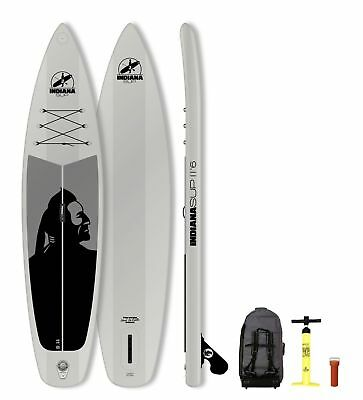 Indiana SUP (Stand Up Paddle) Inflatable 11'6 Family Board 2018 grau