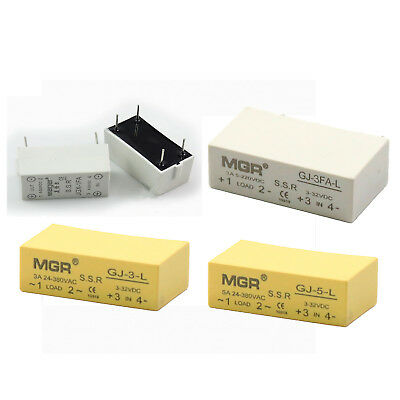 1A 3A 5A 4-Pin PCB Power Relay SSR DC-DC DC-AC Solid State Relay