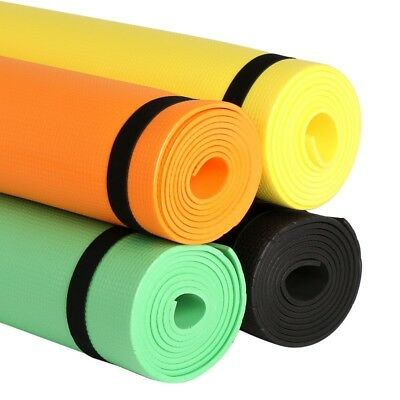 Yoga Mat for Physio Pilates Gym Exercise 4mm Thin Large Comfortable Soft Mats UK
