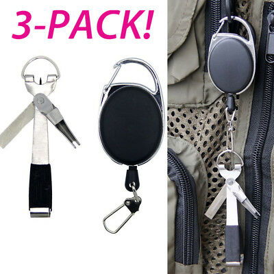 3X Quick Knot Tool 4in1 Fly Fishing Clippers Line Nipper Tying Zinger outdoor_
