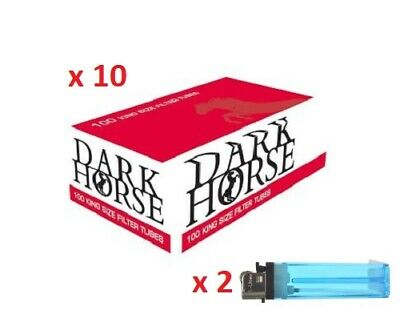 1000 Full Flavour Dark Horse King Size Filter Tubes Empty Tobacco Cigarette