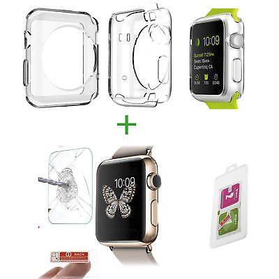 ✅[SET] Apple Watch 1 2 3 42mm Schutzglas 9H + TPU CASE Displayfolie Schutzfolie✅