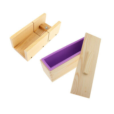 Wooden Soap Loaf Cutter Mold Soap Cutter Wood Box Soap DIY Silicone Mold Set
