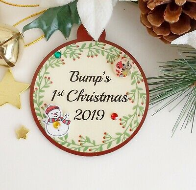 2289b309ee792 BUMPS 1ST CHRISTMAS Bauble Baby's First Xmas Tree Decoration Gift ...