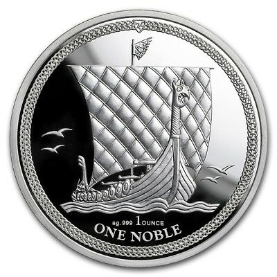 ILE DE MAN One Noble Argent 1 Once 2018