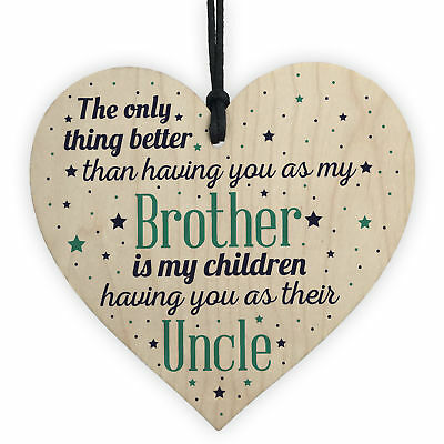 Best Uncle Gifts For Birthday Christmas Present Brother Plaque Niece Nephew Gift